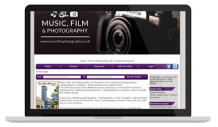 Music, Film and Photography
